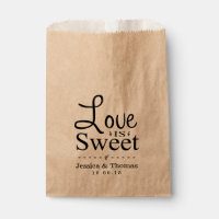Love Is Sweet! Custom Wedding Favor Bags