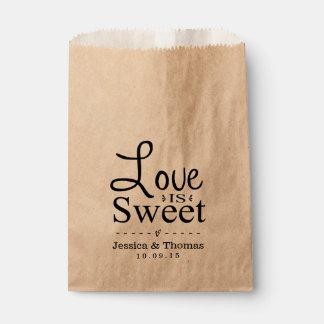 Love Is Sweet! Custom Wedding Favor Bags