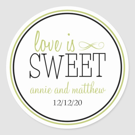 Love Is Sweet Labels (Chartreuse / Black)