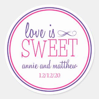 Love Is Sweet Labels (Purple / Magenta)
