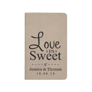 Love Is Sweet! Modern Kraft Pocket Journal
