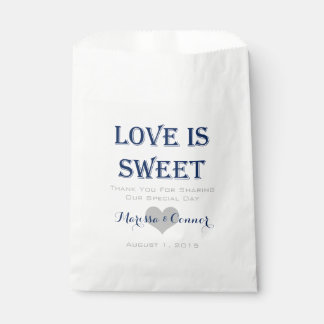Love Is Sweet Navy and Gray Wedding Bags