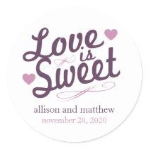 Love Is Sweet Old Fashioined Label (Plum / Purple)