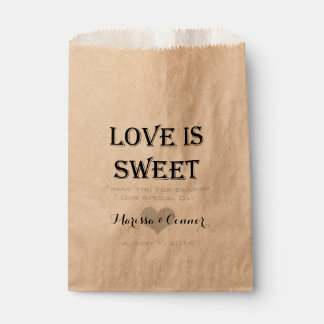 Love Is Sweet Personalized Wedding Favor Bag