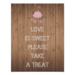 Love is sweet please take a treat - cupcake design poster