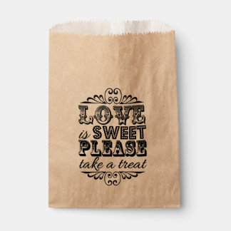 Love Is Sweet, Please Take A Treat! Wedding Favors Favor Bag