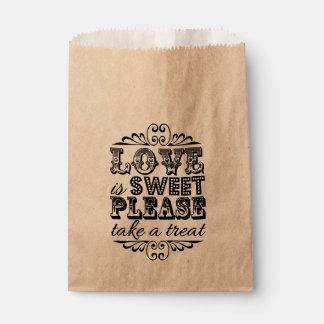 Love Is Sweet, Please Take A Treat! Wedding Favors Favor Bag