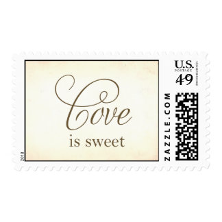 love is sweet postage stamp
