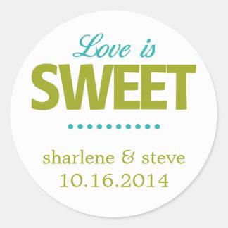 Love is Sweet Round Sticker