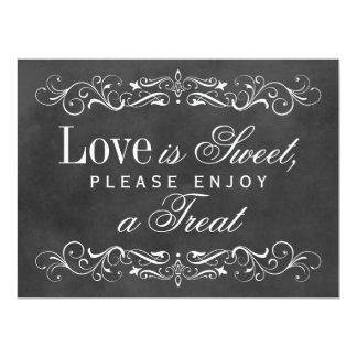 Love is Sweet Sign | Chalkboard Flourish 6.5x8.75 Paper Invitation Card