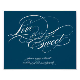 Love is Sweet Sign Print