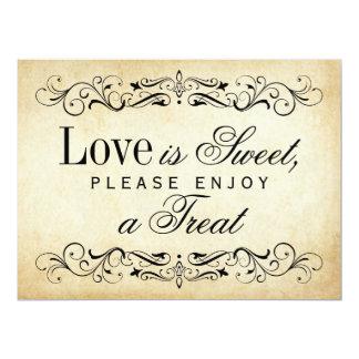 Love is Sweet Sign | Vintage Flourish Card