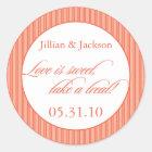 Love is Sweet Sticker in Orange