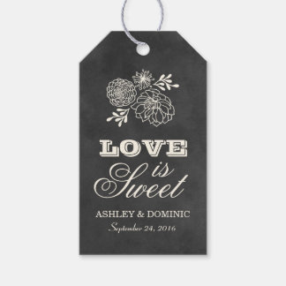 Love is Sweet Tags | Vintage Chalkboard Design Pack Of Gift Tags