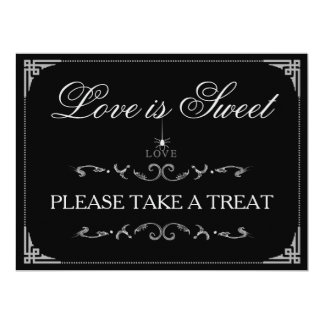 Love is Sweet Treats - Halloween Spider LOVE Sign Card