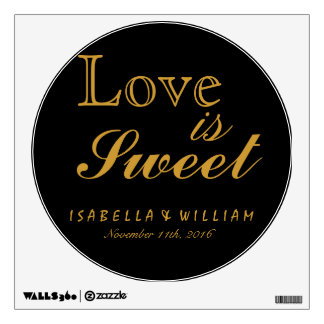 Love is Sweet Vintage Black Wedding Sticker