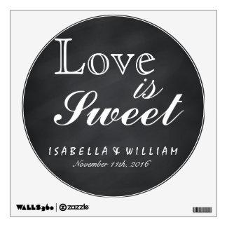 Love is Sweet Vintage Chalkboard Wedding Sticker