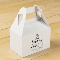 Love is Sweet | Wedding Cake Favor Box