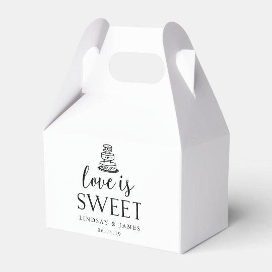 Love Is Sweet Wedding Cake Favor Box