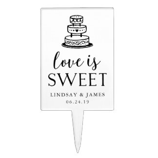 Love is Sweet | Wedding Cake Topper