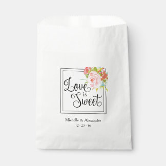 Love is Sweet - Wedding Favor Bag, Shower Treats Favor Bag