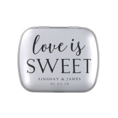 Love Is Sweet | Wedding Favor Candy Tins at Zazzle