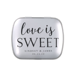 Love is Sweet | Wedding Favor Jelly Belly Candy Tin