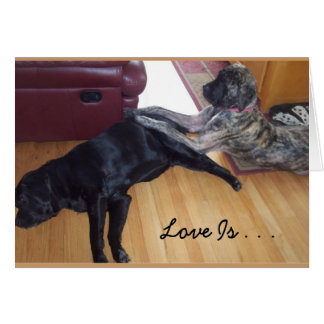 Love Is . . . Taking Turns Giving A Massage Stationery Note Card
