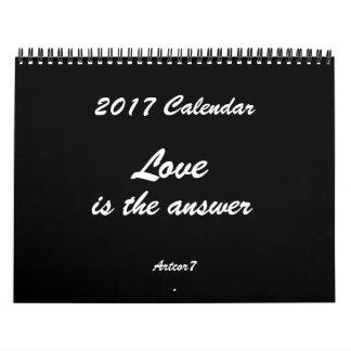 Love is the Answer 2017 Calendar Black Standard
