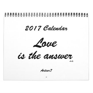 Love is the Answer 2017 Calendar White Standard