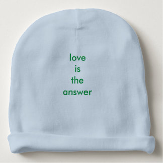 Love Is The Answer Baby Cotton Beanie