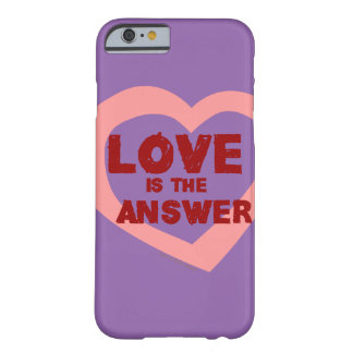 Love is the answer barely there iPhone 6 case