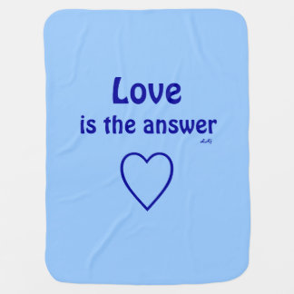 Love is the Answer Blue Blanket