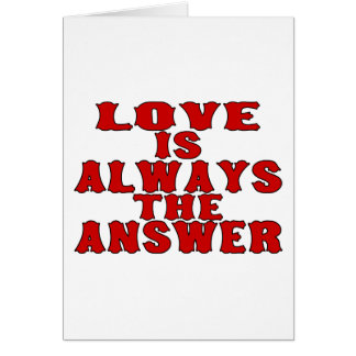 Love Is The Answer Card