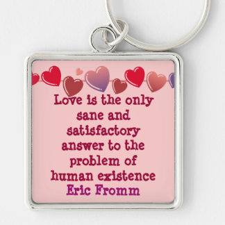Love is the answer keychain