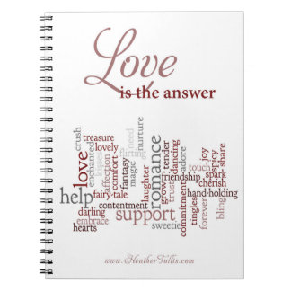 Love is the Answer notebook