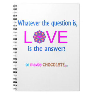 LOVE is the answer or maybe Chocolate Journals