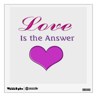 Love is the Answer pink heart Wall Sticker