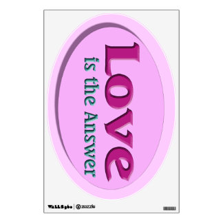 Love is the Answer pink Wall Sticker