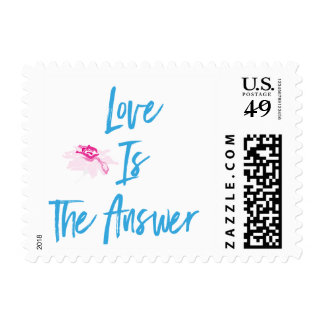 Love Is The Answer Postage Stamp