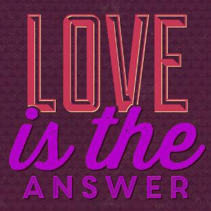 Love Is The Answer Stickers Sticker Designs Zazzle
