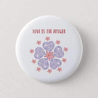 Love is the answer Sticker Button