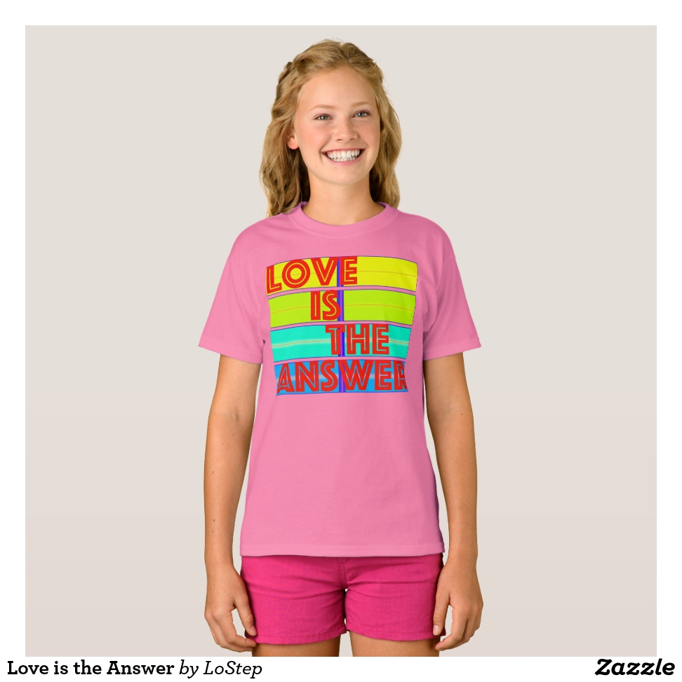 Love is the Answer T-Shirt - Comfortable Kids' Long Sleeve T-Shirt Designs