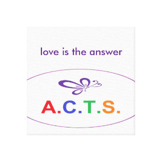 Love Is The Answer Wrapped Canvas