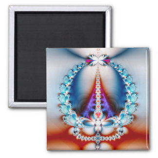 'Love Is the Direct Path to Peace' 2 Inch Square Magnet