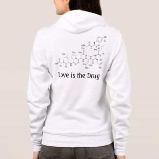 Love is the Drug - Oxytocin Molecule Hoodie