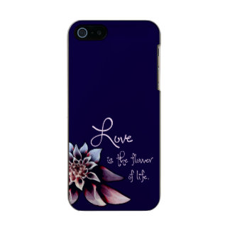 Love is the Flower of Life Metallic Phone Case For iPhone SE/5/5s