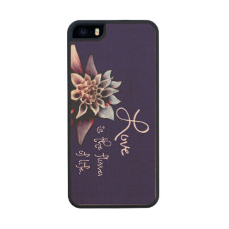 Love is the Flower of Life Wood Phone Case For iPhone SE/5/5s