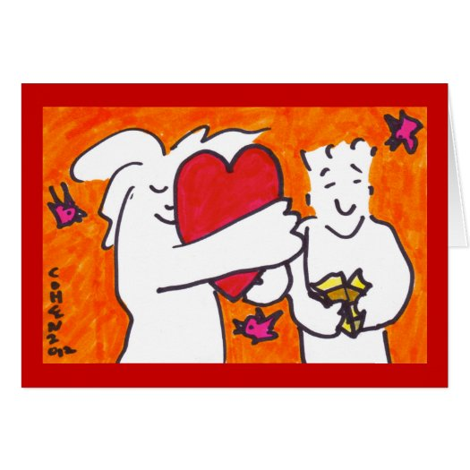 doodlesforlove greeting card