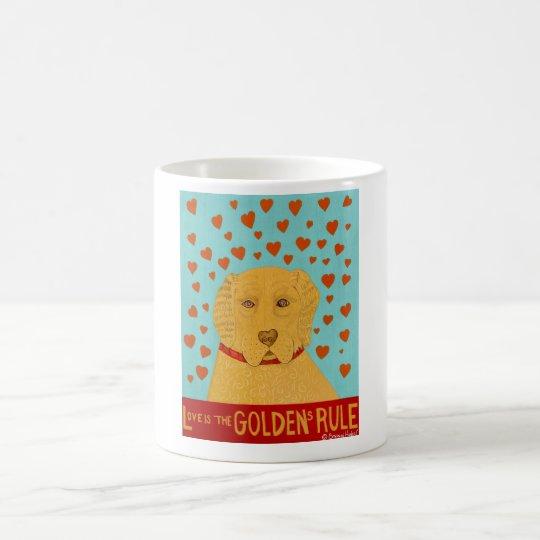 Love is the Goldens Rule - Stephen Huneck Coffee Mug